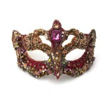 Gypsy Gold & Pink Jewelled Luxury Venetian Mask