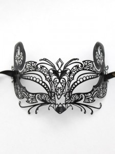 Metal Filigree Gatto Cat or Mouse Masquerade Mask