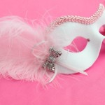 Baby Pink & White Bow Mask 1
