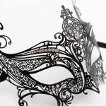 Budget Luxury Catwomen Metal Filigree Mask