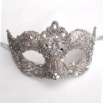 15. Pink Crystal Venetian Wedding Mask