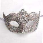 15. Pink Crystal Venetian Wedding Mask