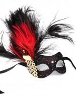 Monsoon Black & Red Venetian Crystal Peacock Mask