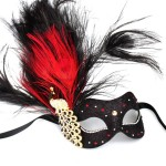 Monsoon Black & Red Venetian Crystal Peacock Mask