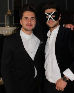 Made in Chelsea Alex in Leather masquerade mask