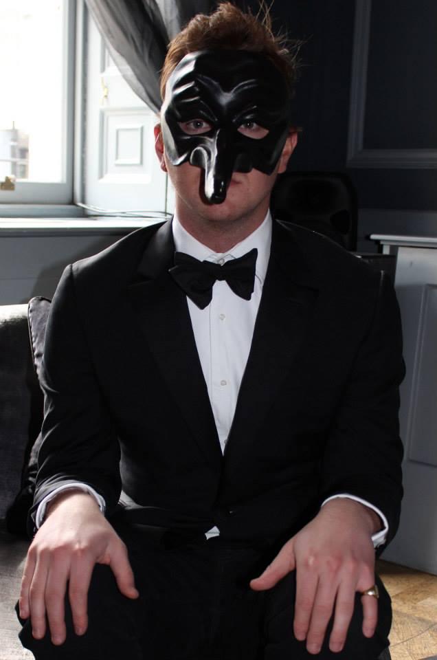 Black and White Masquerade Men Attire
