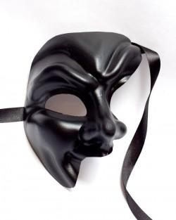 Black Half Devil Joker Phantom Mask