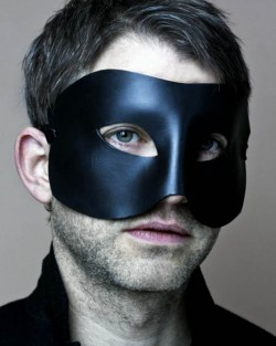 Men's Erotic Sexy Black leather venetian masquerade mask