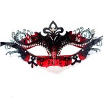 Red & Black Metal Filigree Venetian Mask b