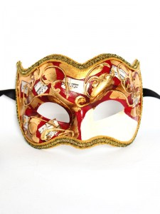 Red Joker Beethoven Venetian Mask