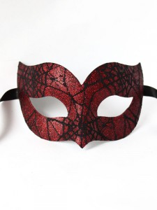 Spider Woman Red & Black Venetian Halloween Masquerade Mask