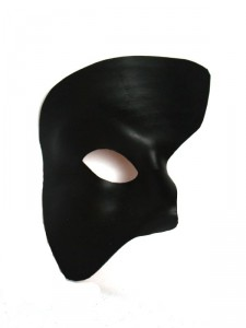 Black Leather Phantom of the Opera Masquerade Mask