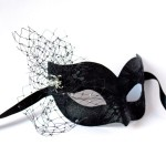 Black Widow Lace Venetian Halloween Mask f