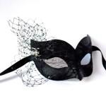 Black Widow Lace Venetian Halloween Mask f
