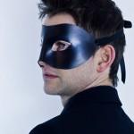 Black leather Columbina Christian Grey 50 shades darker