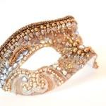 Inca Goddess Bronze gold luxury venetian mask ss