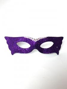 Purple Streak Slim Masquerade Mask with Swarovski Crystals f