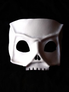 white leather halloween skull masquerade mask