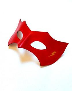 Flash Red Yellow Lightening Bolt Superhero Masquerade Mask b