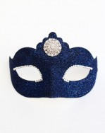 petite navy blue prom mask