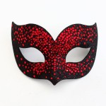 Luxury Red & Black Swarovski Crystal Bird Venetian Masquerade Mask f
