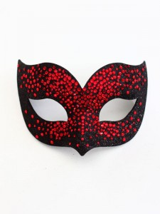 Luxury Red & Black Swarovski Crystal Bird Venetian Masquerade Mask f