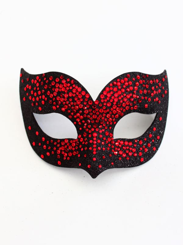 women s luxury black red swarovski crystal bird mask