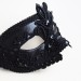 Men's Luxury Black Lace Venetian Mask 2b