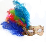 Monsoon Gypsy Peacock Multicoloured Venetian Masquerade Mask
