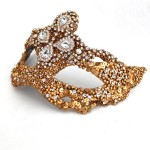 Unique Luxury Couture Expensive Gold Baroque Ornate Venetian Masquerade Mask d