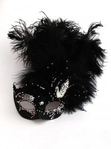 Unique Luxury Swarovski Crystal Black Swan Venetian Masquerade Mask g