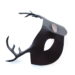 new brown leather stag antler masquerade mask 2