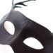 new brown leather stag antler masquerade mask side emblem