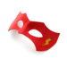 new flash red yellow leather superhero masquerade eye mask 2
