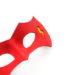 new flash red yellow leather superhero masquerade eye mask 3