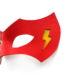 new flash red yellow leather superhero masquerade eye mask 4