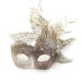 winter queen champagne gold glitter crystal masquerade mask 1