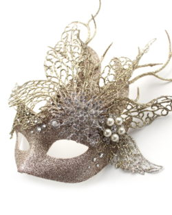 winter queen champagne gold glitter crystal masquerade mask 4