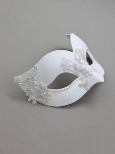 11. Elegant Bridal Venetian Mask