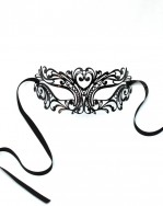 Men's Venetian Black Luxury Filigree Mask