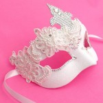 12. Swarovski Crystal & Beaded Lace Bridal Mask