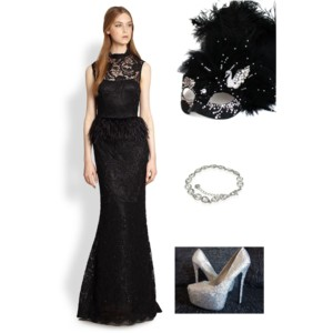 Ultimate Black & Silver Swan Masked Ball Masquerade Mask Party Outfit