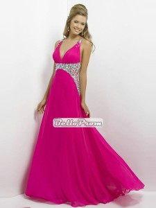 Bello Prom Cerise & Diamante Prom Dress