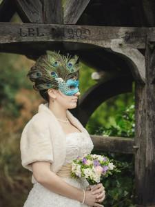 Peacock Masquerade Bridal Wedding Masquerade Mask