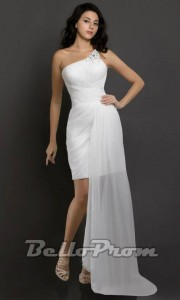 White Bello Prom Dress