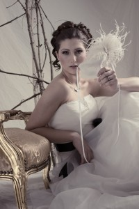 Ivory & Pearl Lace Wedding Masquerade Mask