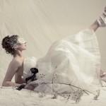 White Bridal Wedding Masquerade Mask