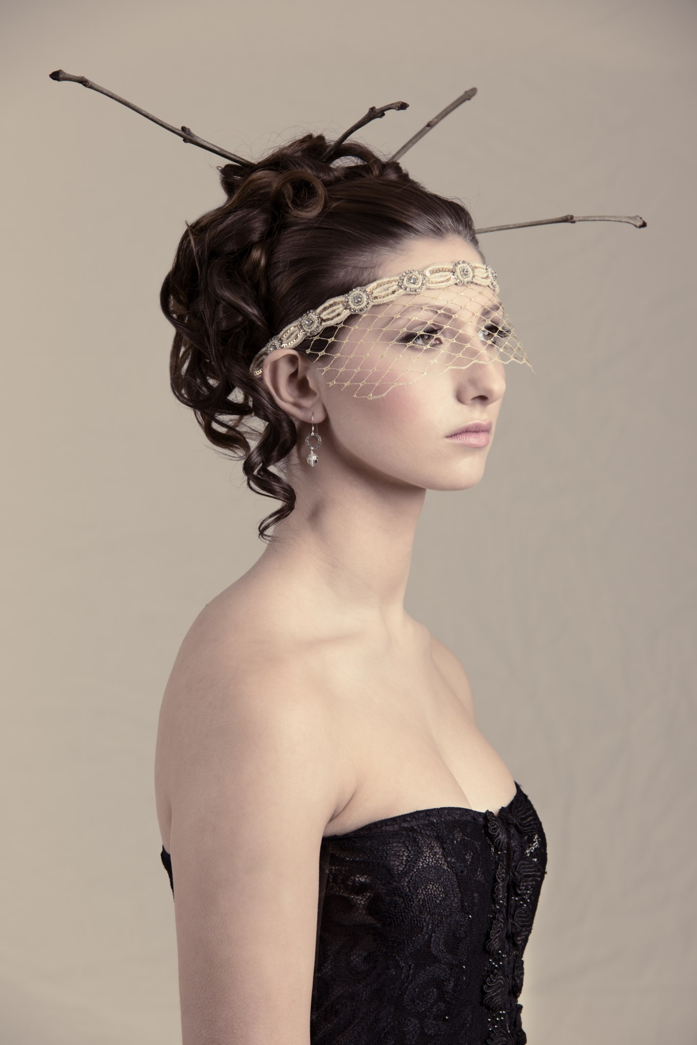 gold veil masquerade mask