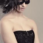 Black & White Feather Masquerade Mask