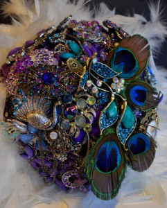 peacock jewelled bouque